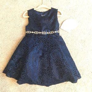 American Princess    Blue Floral Lace Dress